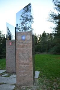 Stecak poginulim braniteljima s Otoka Ivanic- Trokut Novska